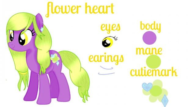 Flower Heart [OC ADOPT] by mlpartblossom