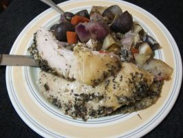 Garlic-Lavender Turkey and Vegetables 4 by Windthin