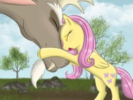 That's love for you. Discord and Fluttershy. Redo by kazifasari