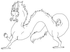 Free chinese dragon lineart by Eclipsedwolf