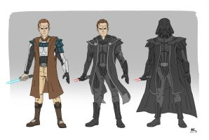 Anakin Skywalker REDUX by AndrewKwan