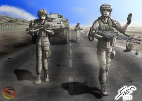 On patrol in Kandahar by Panzerfire