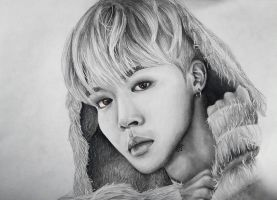 BTS - Jimin colored eyes by forevercoolie
