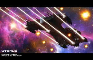 Uterus  - Frigate Carrier Capital Ship by HPashkov