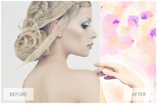 Lovely Watercolor Effect   Photoshop Actions by EcaJT