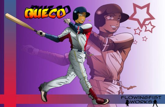 Commision: Queco dominican baseball player. by Flowingfist