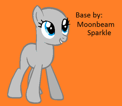 Standing Earth Pony Base by MoonbeamSparkle