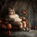 03 - Dreamy Bunny and the Big Fat Cat by LuzTapia
