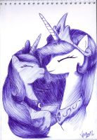 Princesses of Night and Day by varijani