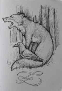 Fox and Crow by solymn