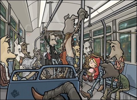 Wolves Bus ride by MathieuBeaulieu