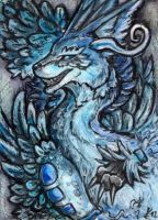 aceo Sapphire-shadows by Kirsch-vanderWit