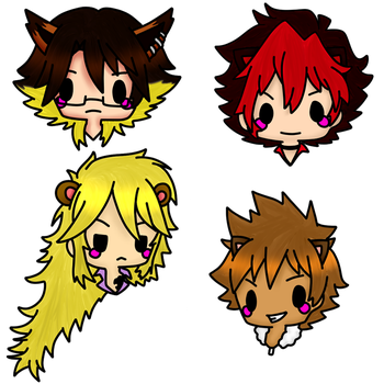 Shingancrimsonz Stickers [Show by Rock] by Domenica-chan999