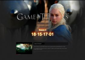 Game of Thrones Season 3 Countdown Timer by Kadae