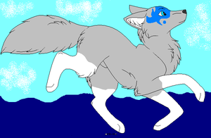 Wolf of water by Adoptablegirl