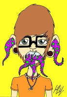 Throwing up Octo by GirBaloney