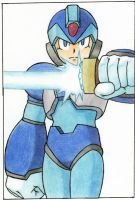 Megaman X With Saber by DeathSpikes