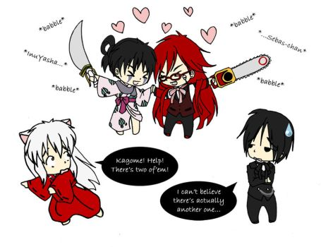 Jakotsu and Grell by HavenRelis