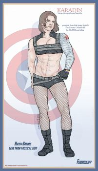 Bucky Barnes Less Than Tactical Suit by karadin