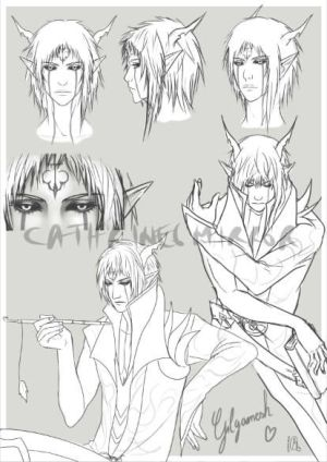 C: Gilgamesh sketch page by cathrine6mirror