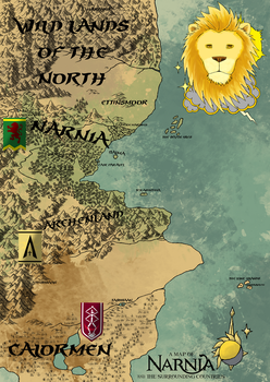A map of Narnia and the surrounding countries by ElykRindon