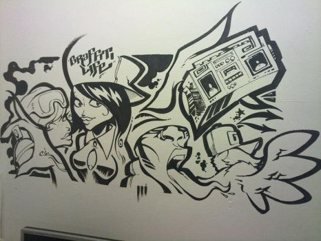 Freestyle on the office wall by artjaz11