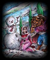 Xmas with Beauty and the Beast by TamiTw