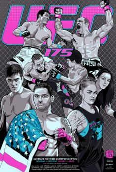 UFC 175 Poster by wild7even