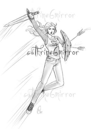 Comission - Full body sketch - Amy Collins by cathrine6mirror
