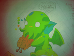Small Cthulhu in color by Kanut55
