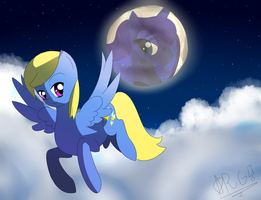 [Commission] Flight of the Night. by Wolfbaloo