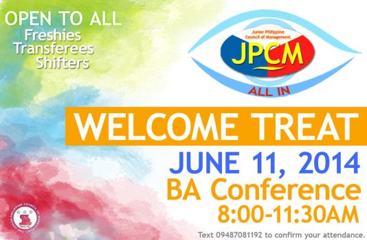 JPCM 2014-2015 Welcome Treat Poster by ArooJusco