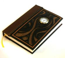 Brown Clock Journal by McGovernArts
