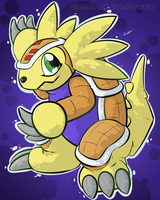 Armadillomon - Day 1204 by Seracfrost