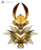 Daily Painting 755. Kanto - 135 - Jolteon