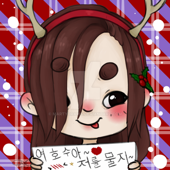 [ICON] Christmas Jeonghan by MartyDraws