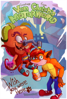 Crash Bandicoot- It's a Small Motorworld After All by Turquoisephoenix