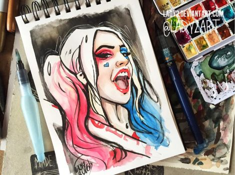 Harley_Quinn. by Lady2