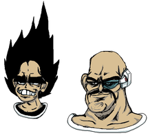 Vegeta and Nappa by DummyCorps