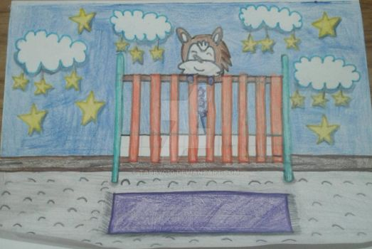 In a crib  by Tabby010