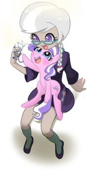 silver spoon and diamond tiara by quizia