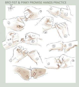 +DRAWING PRACTICE - BRO FIST 'n PINKY PROMISE+ by goku-no-baka