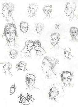 A Bunch of Floating Heads by Pebbles6