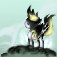 Derpy and the cloud by fra-92