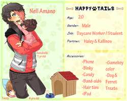 [Happy Tails] Nell Amano - App Update!! by banANNUmon