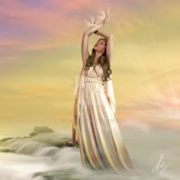 Hemera: the goddess of the day by Tebh