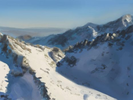 Snow Landscape speed painting by JawadSparda