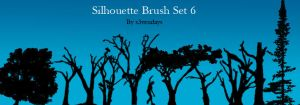 Silhouette Brush Set 6 by s3vendays
