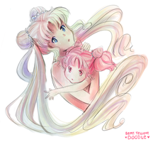 Quick Doodle: Serenity and Chibiusa by BemiTellove