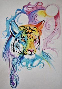 Colorfull tiger by DrawingNynke
